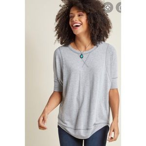 ModCloth Best of the Basics Top In Gray